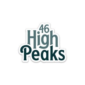 46 High Peaks Sticker - Pure Adirondacks