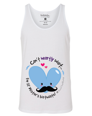 Gender Reveal Party- It's A Boy-Mister Mustache- Monthly Pregnancy Milestones-Pregnancy Timeline-Maternity Tank