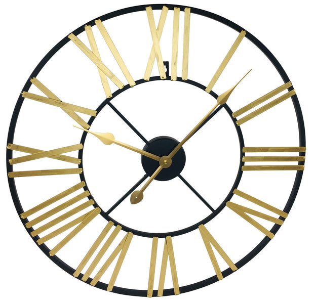 Gold & Black Roman Numeral Skeleton Clock - Seashore No4