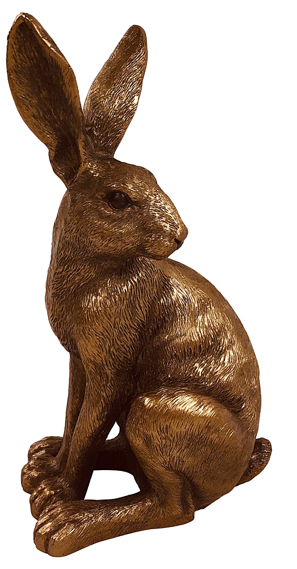 Bronze Sitting Hare Ornament - Seashore No4