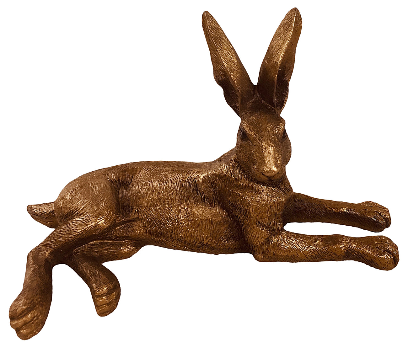 Bronze Laying Hare Ornament - Seashore No4