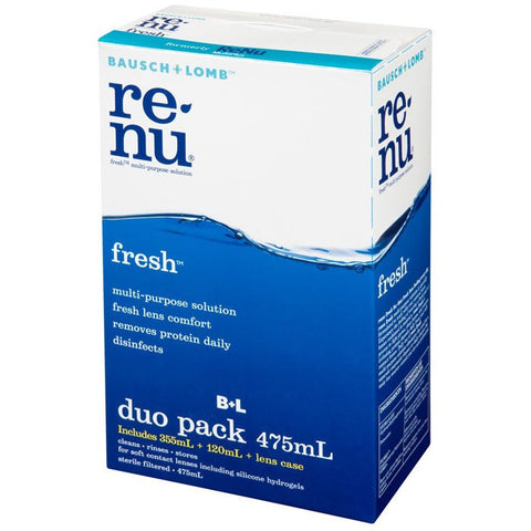 Bausch & Lomb Renu Fresh Multi-Purpose Solution Duo Pack