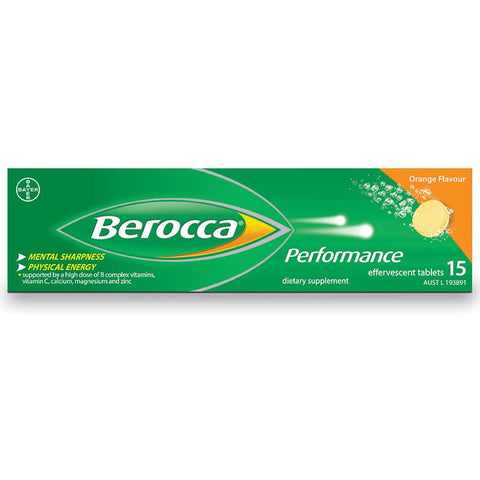 Berocca Performance Effervescent Orange Tab X 15