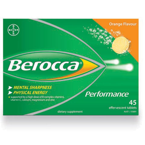 Berocca Performance Effervescent Orange Tab X 45