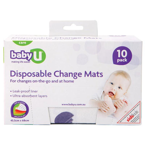 Baby U Disposable Change Mats X 10