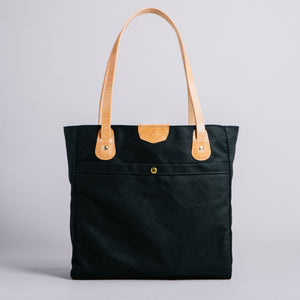 Wellington Tote (Black & Natural)