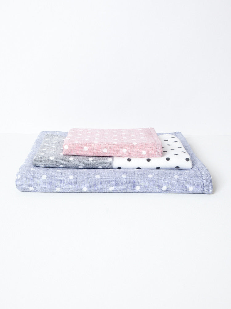 Polka Dot Chambray Towel - rikumo japan made