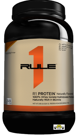 R1 Naturally Flavored Whey Isolate/Hydro-Isolate Protein by Rule 1