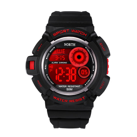 Waterpoof Mens Rubber Band Digital Army Military Quartz Sport Wrist watch