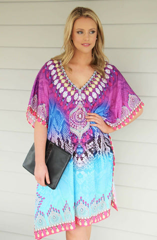 PURPLE JEWEL KAFTAN