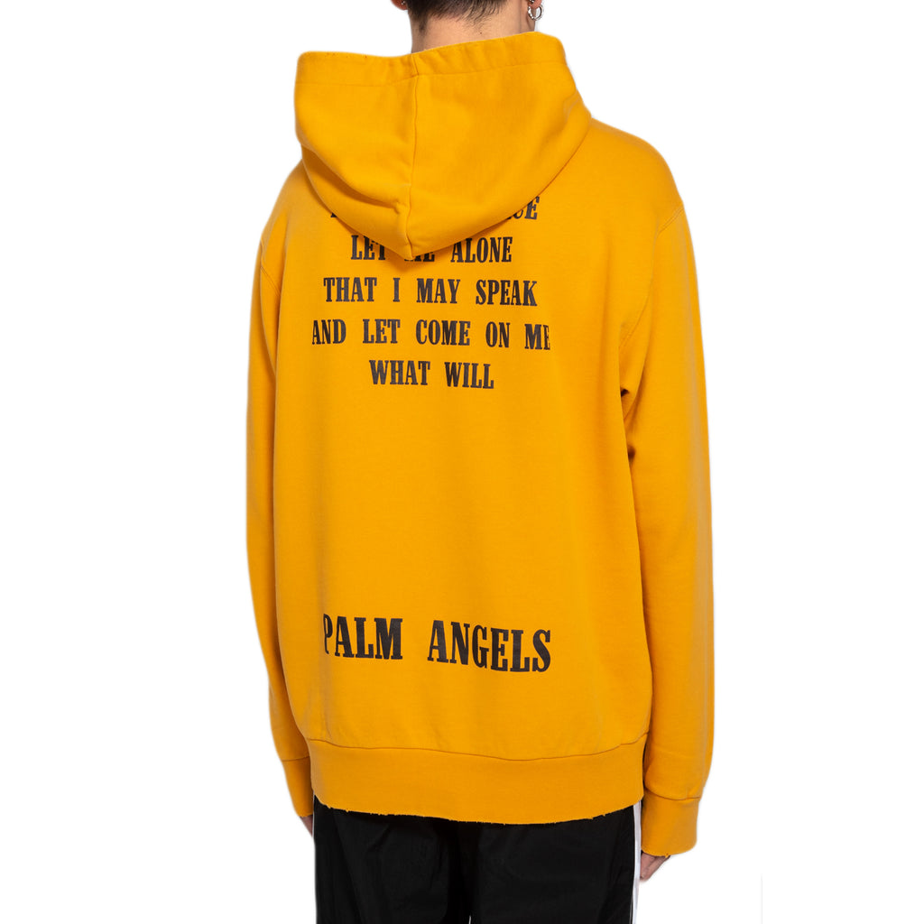 Palm Angels Legalize It Hoody, Yellow/Black