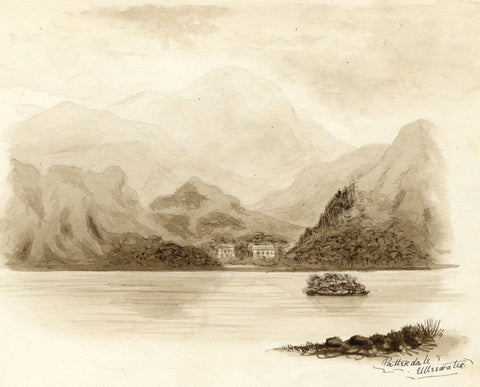 Patterdale from Ullswater Lake, Cumbria - Late 19th-century watercolour painting
