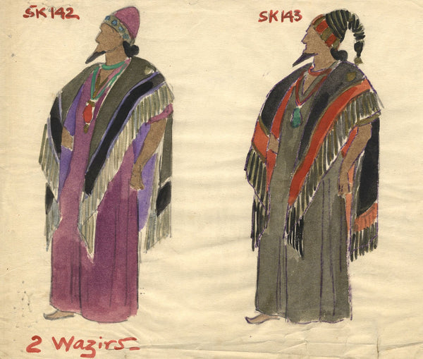 Percy Anderson, Original Theatre Costume Design for 'Cairo' 1921: Wazirs