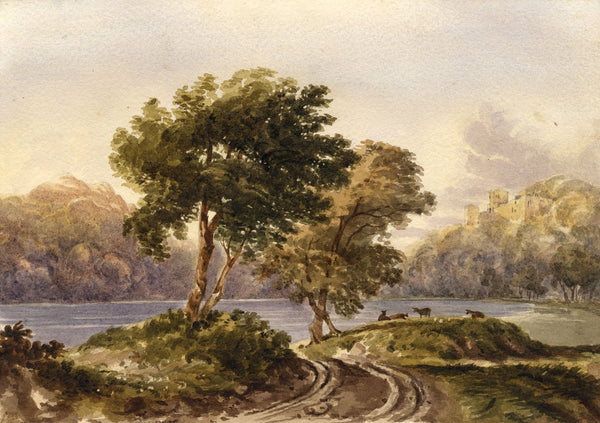 On the River Meuse, Belgium at Namur - Mid-19th-century watercolour painting