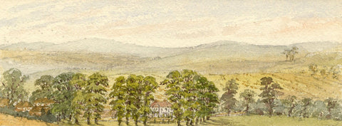 Emily Bruce, Manton Grange House, Manton, Marlborough -1886 watercolour painting
