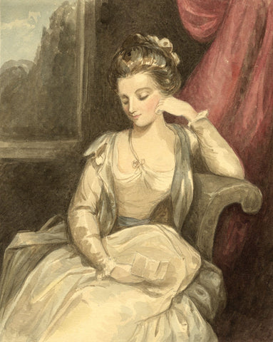 Lady Susan Harriet Holroyd, Elizabeth Darby after Reynolds - c.1845 watercolour