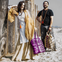 Shopping Totes from Recycled Saris