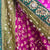 Purple & Green Chiffon Recycled Sari