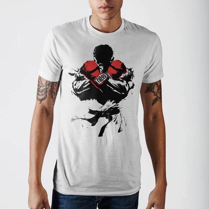 Street Fighter White T-Shirt - Alluforu