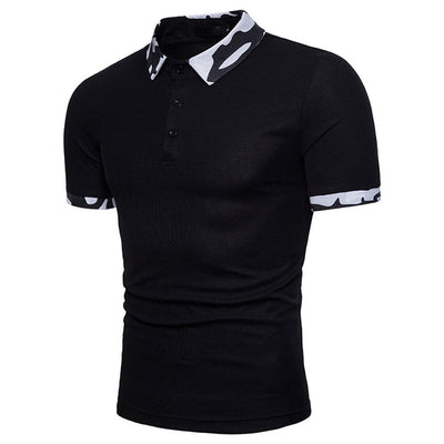 Men's Slim Fit Short Sleeve Button T-Shirt