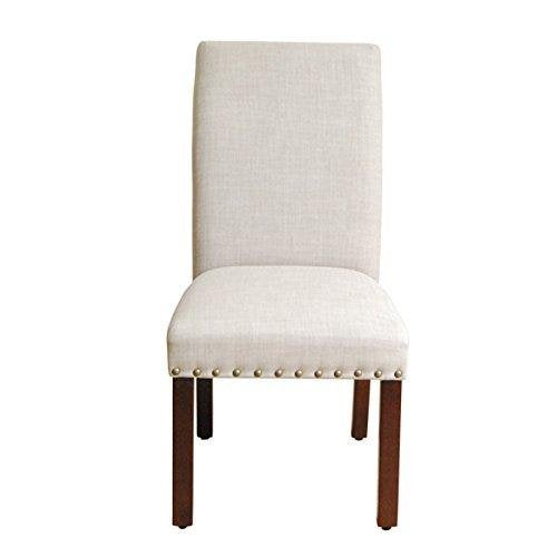 Tan Nail Head Dining Chairs- Set of 2