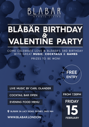 15th February 2019 Blåbär Birthday & Valentine Party - Blabar