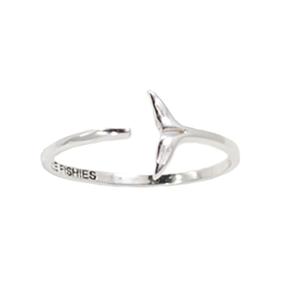 Sterling Silver Whale Tail Ring - Sand Cloud