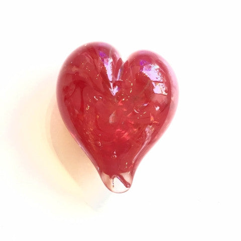 Tiny Glass Heart Paperweights