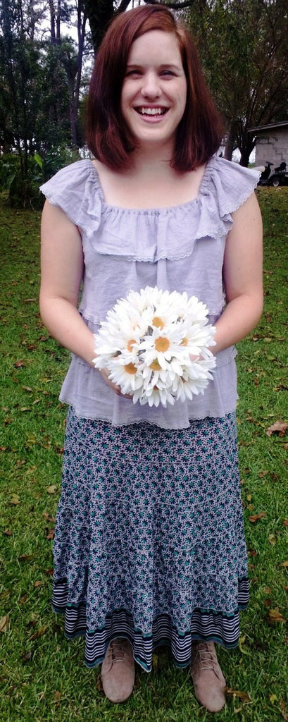 Silk Shasta Daisy Wedding Flower Bouquet - Silk Flowers By Jean