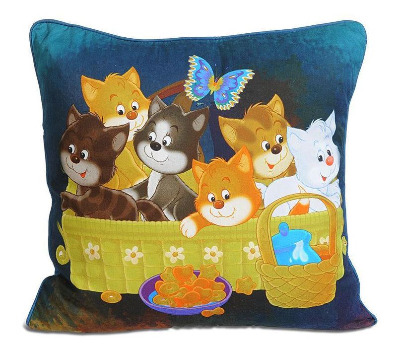 KITTENS KIDS CUSHION COVER - Flickdeal.co.nz