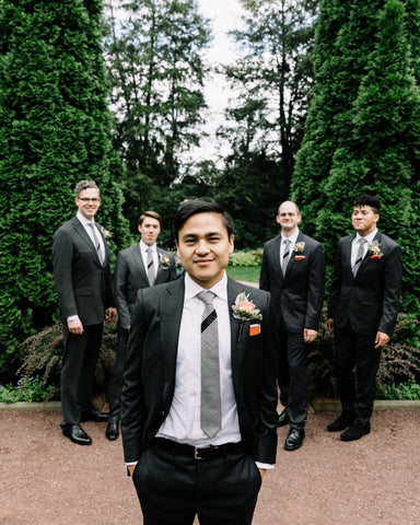 Custom Groomsmen Wedding Necktie by MIZU brand