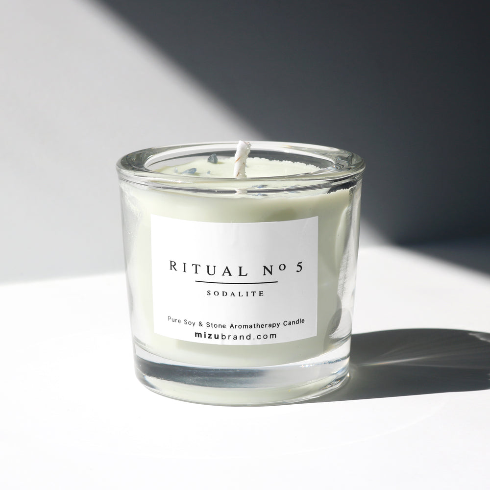 RITUAL No 5/ Essential Oil Candle for Throat Chakra
