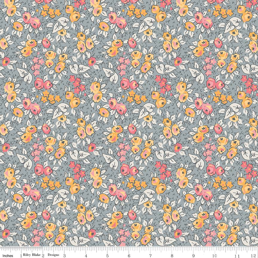 Linen - Lawn Floral Gray LW6346-Gray