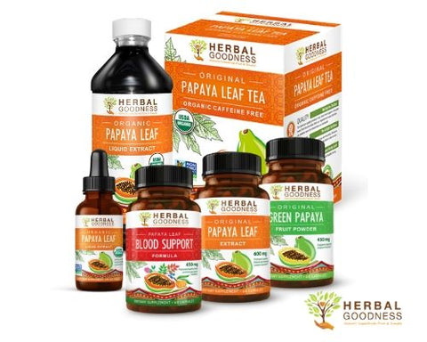 herbal goodness papaya leaf extract products