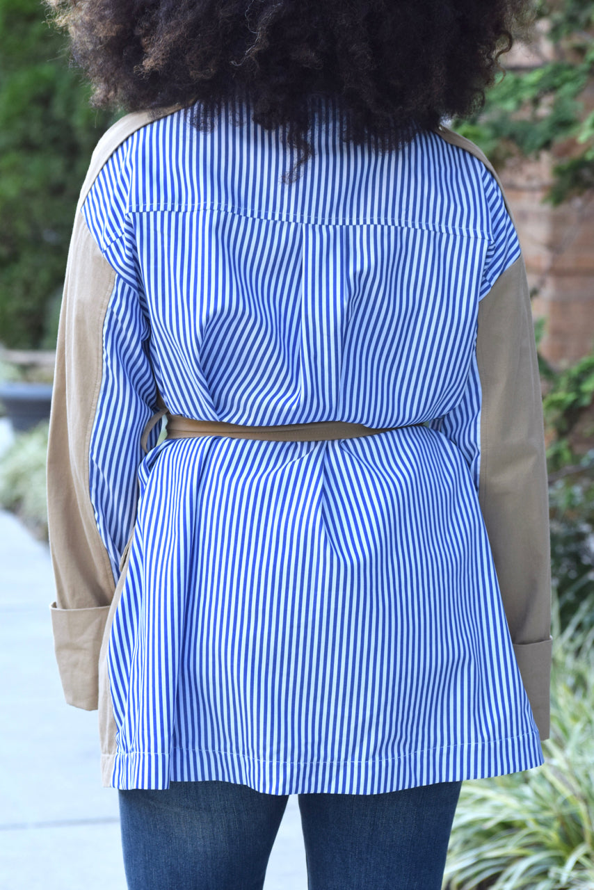 Stripe Back Short Trench