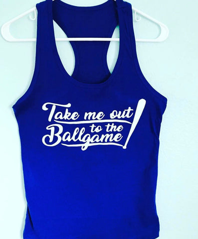 Take me out to the ballgame- Mom baseball or softball mom - Tee or Tank- Mother's Day Gift- Shirts for Moms- Coach Shirts - Pick Me Cups