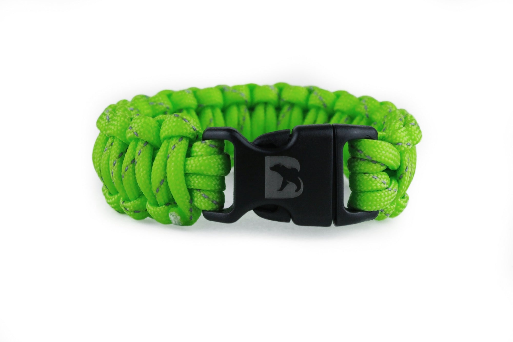 Reflective Flourescent Green Paracord Bracelet - Bearbottom Clothing