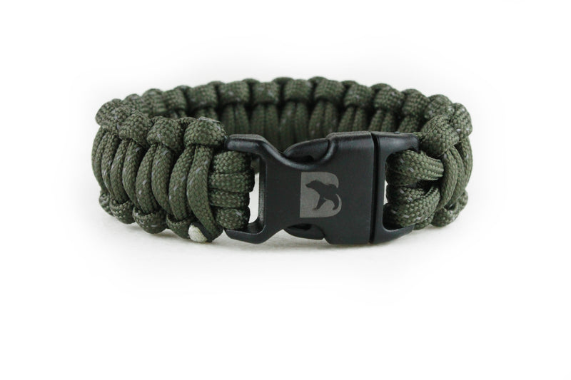 Reflective Army Green Paracord Bracelet - Bearbottom Clothing