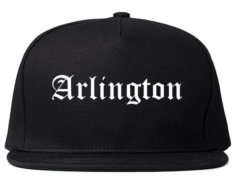 Arlington Texas TX Old English Mens Snapback Hat Black