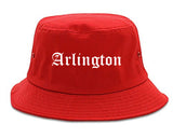 Arlington Texas TX Old English Mens Bucket Hat Red