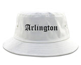 Arlington Texas TX Old English Mens Bucket Hat White