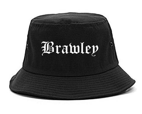 Brawley California CA Old English Mens Bucket Hat Black