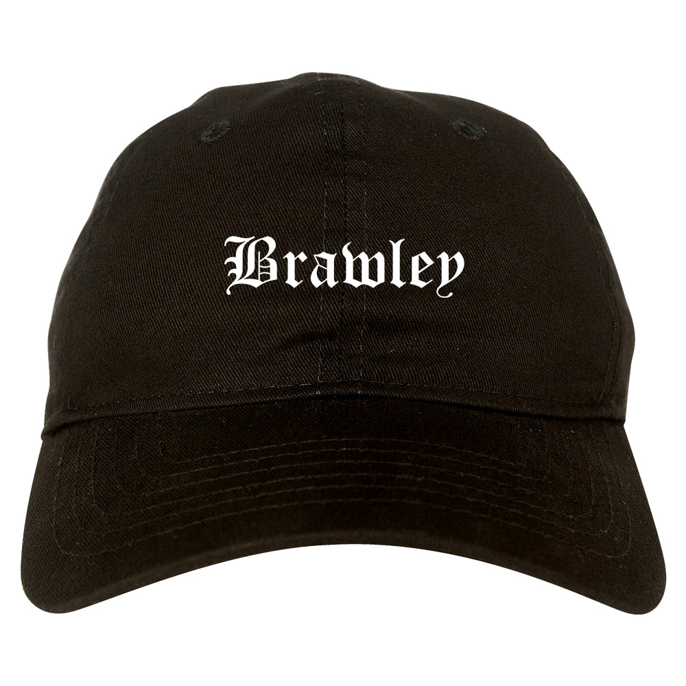 Brawley California CA Old English Mens Dad Hat Baseball Cap Black