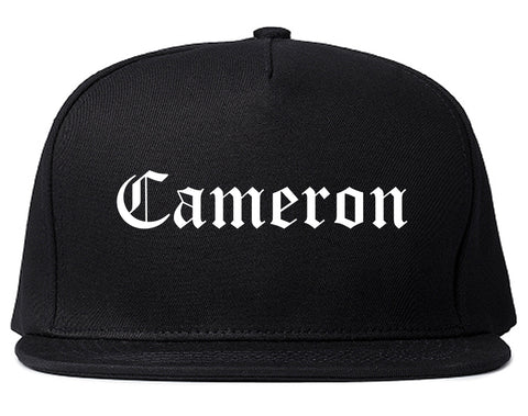 Cameron Missouri MO Old English Mens Snapback Hat Black