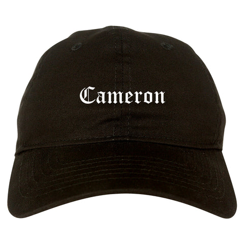Cameron Missouri MO Old English Mens Dad Hat Baseball Cap Black