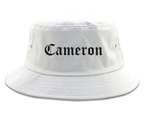 Cameron Missouri MO Old English Mens Bucket Hat White