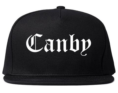 Canby Oregon OR Old English Mens Snapback Hat Black