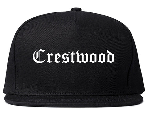 Crestwood Missouri MO Old English Mens Snapback Hat Black