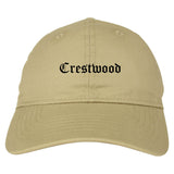 Crestwood Missouri MO Old English Mens Dad Hat Baseball Cap Tan