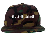 Fort Mitchell Kentucky KY Old English Mens Snapback Hat Army Camo